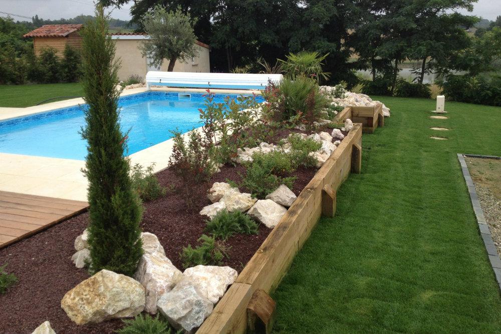 plantation abord piscine