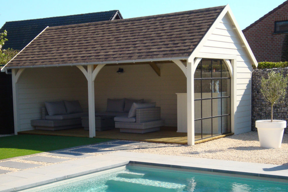 pool house traditionnel Exterior Living